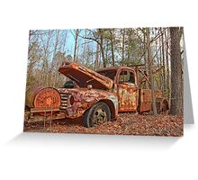 Old Ford F4 Tow Truck Greeting Card