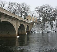 niles mainstreet bridge winter shot by wolf6249107