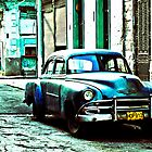American car, early morning, Havana, Cuba by buttonpresser