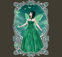 Emerald Birthstone Fairy Womens Fitted T-Shirt