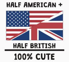 Half British 100% Cute Kids Tee