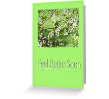 Feel Better Soon Black Cap Chickadee In Spring Greeting Card