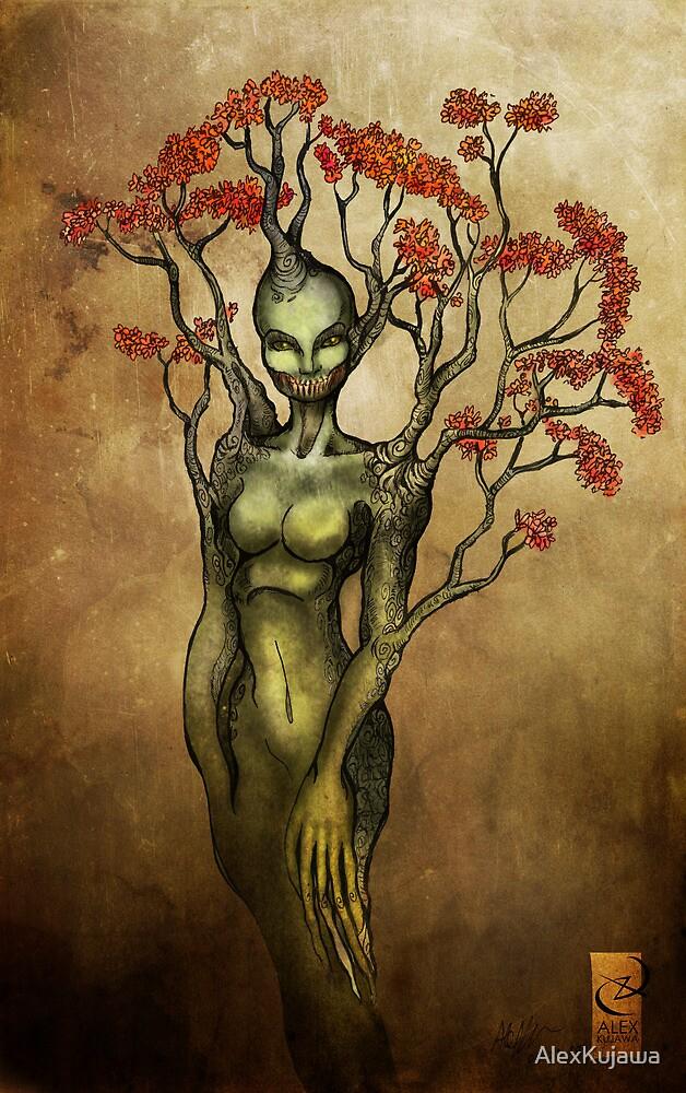 Crimson Dryad by AlexKujawa