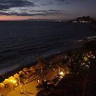 Olas Altas Beach at Night - Noche en Olas Altas by PtoVallartaMex