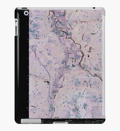 USGS Topo Map Washington State WA Acme 20110418 TM Inverted iPad Case/Skin