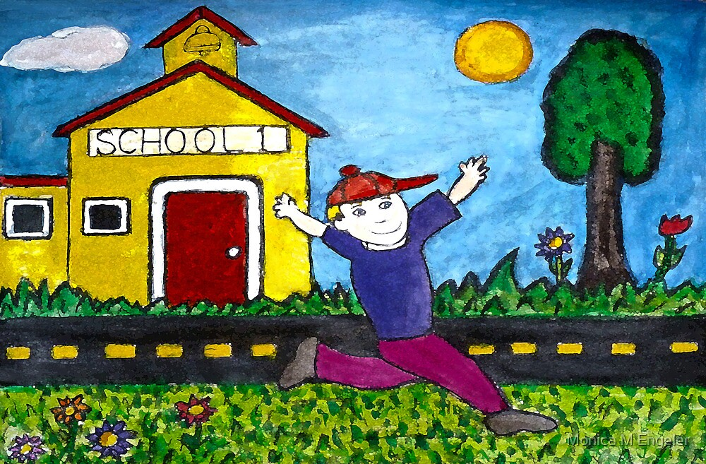 Schools Out For Summer by Monica Engeler