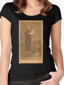 Benjamin K Edwards Collection Jim McCormick Chicago White Stockings baseball card portrait 002 Women's Fitted Scoop T-Shirt