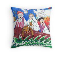 Rub-a-dub-dub Throw Pillow