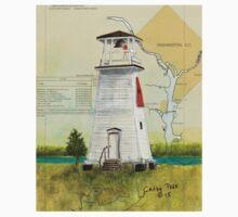 Fort Washington Lighthouse MD Map Cathy Peek One Piece - Short Sleeve