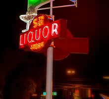 5th Avenue liquor neon sign by gwarn