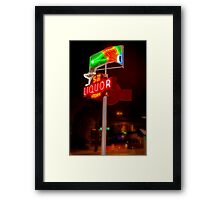 5th Avenue liquor neon sign Framed Print