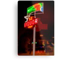 5th Avenue liquor neon sign Metal Print