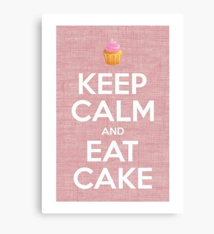 Keep Calm and Eat Cake Print Canvas Print