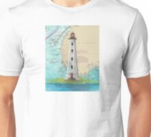 Cape Sable Lighthouse NS Canada Map Cathy Peek Art Unisex T-Shirt