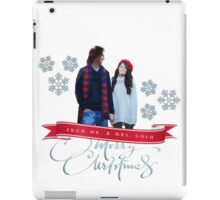 Merry Christmas from the Golds! iPad Case/Skin
