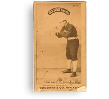 Benjamin K Edwards Collection Tom Daly Chicago White Stockings baseball card portrait Canvas Print