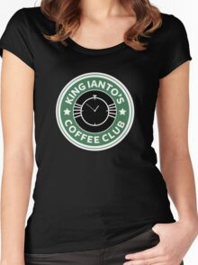 Ianto coffee club Women's Fitted Scoop T-Shirt