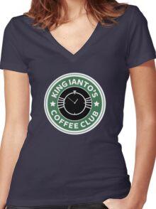 Ianto coffee club Women's Fitted V-Neck T-Shirt