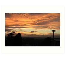 Electric Sunset, West Malvern Art Print