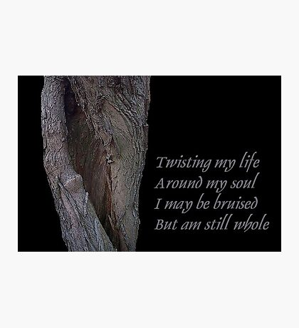 Twisting my life Photographic Print