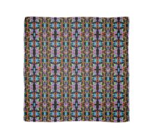 Insect like Abstract with Purple Blue Orange Yellow Green on Black  Scarf