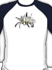 Two Delicate White Lilies T-Shirt