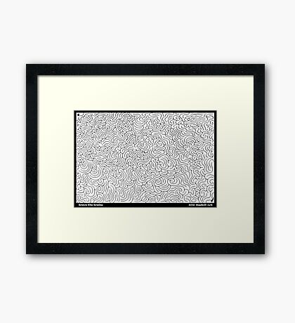 Brave the Brains Framed Print