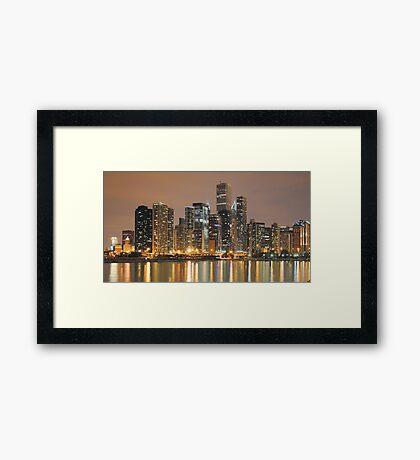 Chicago Skyline, as seen from Navy Pier Framed Print
