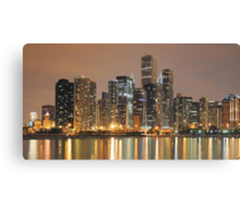 Chicago Skyline, as seen from Navy Pier Canvas Print