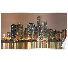 Chicago Skyline, as seen from Navy Pier Poster