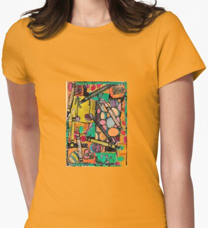Crayola Abstract Womens Fitted T-Shirt