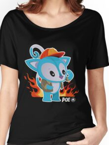 Poe Possum Fire Chief Women's Relaxed Fit T-Shirt