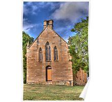 St Bernard's Catholic Church, Little Hartley, NSW Poster