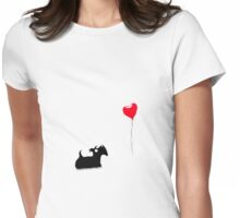 Scottie Dog 'Love' Womens Fitted T-Shirt