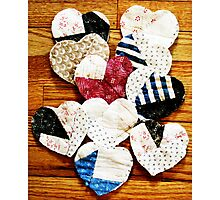 Quilted Hearts Photographic Print