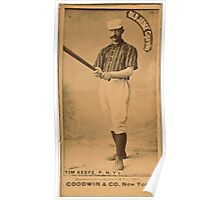 Benjamin K Edwards Collection Tim Keefe New York Giants baseball card portrait 002 Poster