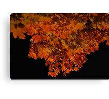 ablaze - fall leaves at night Canvas Print