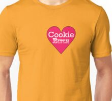 Cookie Bitch white on pink Unisex T-Shirt