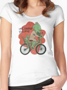 Mr. Cthulhu's Holiday Women's Fitted Scoop T-Shirt