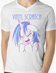 Vinyl Scratch Mens V-Neck T-Shirt