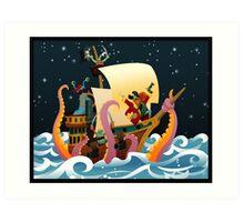 Pirate Monsters Art Print