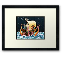 Pirate Monsters Framed Print