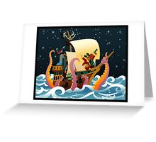Pirate Monsters Greeting Card