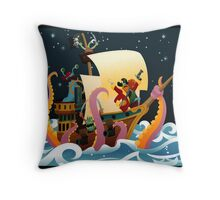 Pirate Monsters Throw Pillow