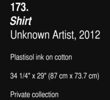Shirt, as art (Dark) by ubiquitoid