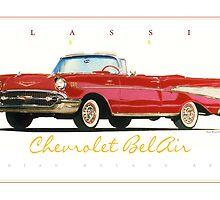 1957 Chevrolet BelAir ver 2 by brianrolandart