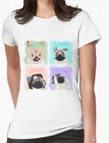 Pug Direction Womens Fitted T-Shirt