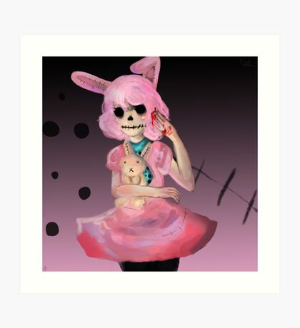Dead Bunny Girl Art Print