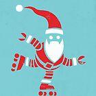 Roller Skating Robot Santa by pixbyrichard