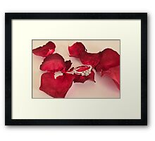 rose petal bed Framed Print